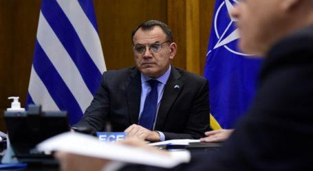 Συμμετοχή του ΥΕΘΑ Νικόλαου Παναγιωτόπουλου στην έκτακτη σύνοδο του ΝΑΤΟ μέσω τηλεδιασκέψεως