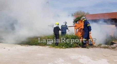 Συναγερμός για φωτιά σε εργοστάσιο ξυλείας