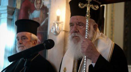 Ο αρχιεπίσκοπος ζητεί το άνοιγμα των εκκλησίων