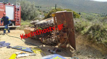 Νεκρός αγρότης που καταπλακώθηκε από το τρακτέρ του