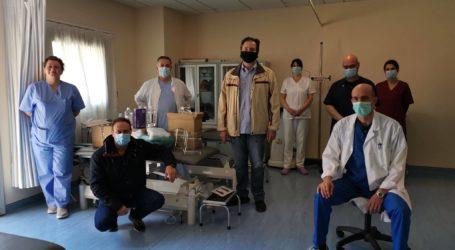 Δωρεά προστατευτικού υλικού στο Νοσοκομείο Βόλου από τους φυσικοθεραπευτές
