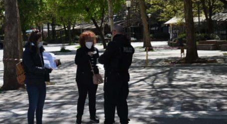 Εντατικοί έλεγχοι στο κέντρο της Λάρισας για την τήρηση της απαγόρευσης των άσκοπων μετακινήσεων (φωτό)