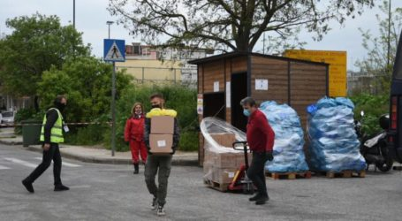Διανομή τροφίμων και συμβουλευτική  ιατρική για τους κατοίκους της περιοχής καραντίνας από το δήμο Λαρισαίων