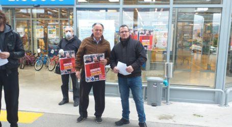 Παρέμβαση του Συνδικάτου Εμποροϋπαλλήλων σε σούπερ μάρκετ του Βόλου