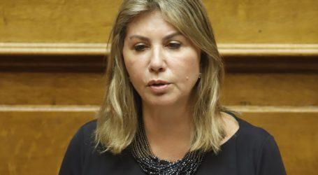 Αναφορά υποστηρικτική των αιτημάτων της Πανελλήνιας Ομοσπονδίας Υπαλλήλων Εξωτερικής Φρούρησης κατέθεσε η Ζέττα Μακρή