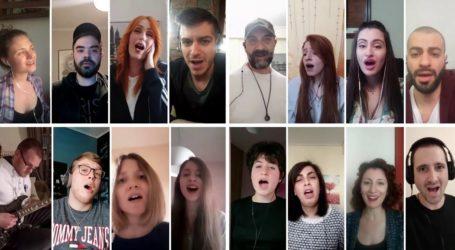 Δείτε βίντεο: Λαρισαίοι τραγουδούν «Το χειροκρότημα» σε… έκδοση καραντίνας
