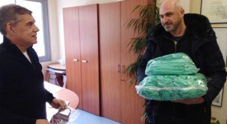 Δωρεά της Interprom του Απόστολου Παπαδημητρίου 550 μάσκες