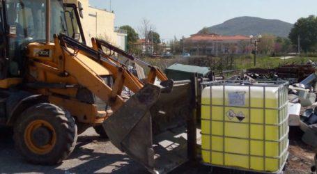 Συνεχίζει εντατικά τις απολυμάνσεις δημοσίων χώρων και του οικισμού των Ρομά ο δήμος Φαρσάλων