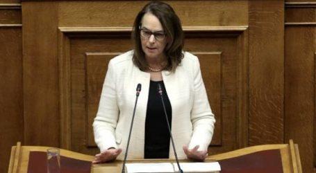 Κ.Παπανάτσιου: «Άμεσα μέτρα στήριξης της κοινωνίας και της οικονομίας τώρα»