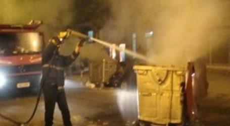 Βόλος: Φωτιά σε κάδους απορριμμάτων κινητοποίησαν την Πυροσβεστική