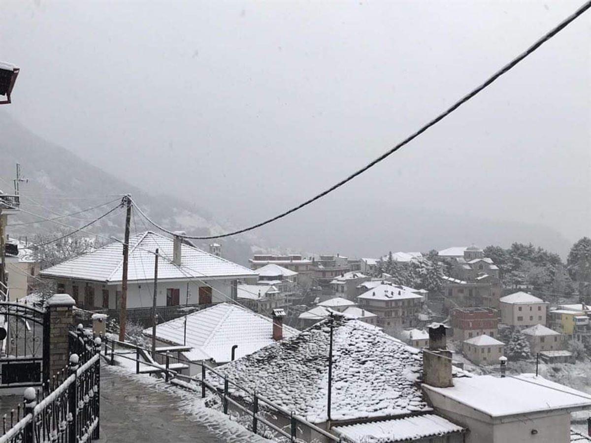 Το έστρωσε... ανοιξιάτικα στο Λιβάδι - Σε χιονισμένο τοπίο ξημέρωσαν τα ορεινά της Ελασσόνας (φωτο)