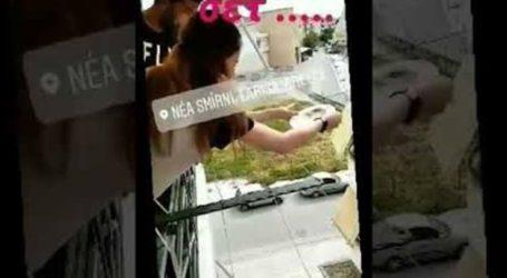 Άναψε το πασχαλινό γλέντι στη Λάρισα και άρχισαν να πετάνε και να σπάνε πιάτα από τα μπαλκόνια τους (βίντεο)