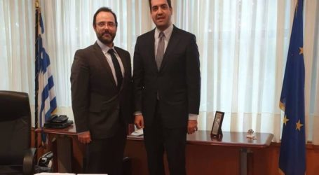 Δέσμευση του Υφυπουργού Εσωτερικών στον Κ. Μαραβέγια για χρηματοδότηση του Δήμου Ρήγα Φεραίου με 1 εκατ. ευρώ