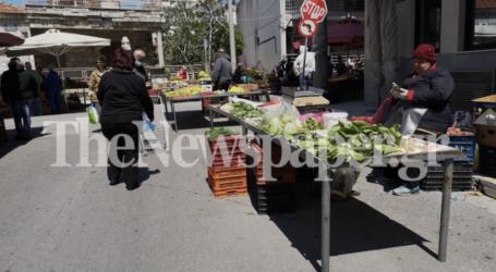 Τηρούν τα μέτρα προστασίας οι Βολιώτες στη λαϊκή αγορά [εικόνες]