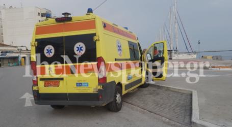 Τροχαίο ατύχημα στο λιμάνι του Βόλου – Ένας τραυματίας