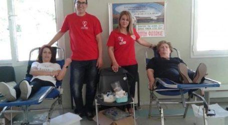 Εθελοντική αιμοδοσία από το Σύλλογο Εθελοντών Αιμοδοτών Φαλάνης