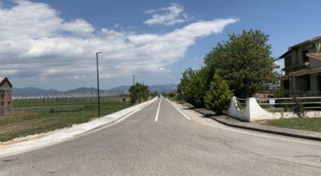 Νέα πεζοδρόμια απέκτησε η είσοδος του οικισμού των Δένδρων