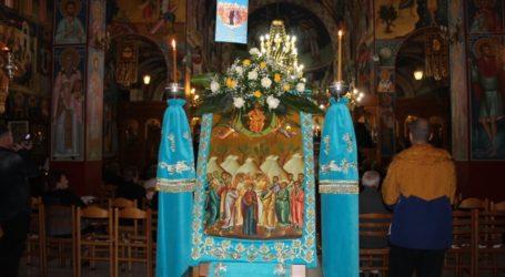 Δείτε φωτογραφίες: Πανηγυρικός Εσπερινός στον Ιερό Ναό Αναλήψεως στη Λάρισα