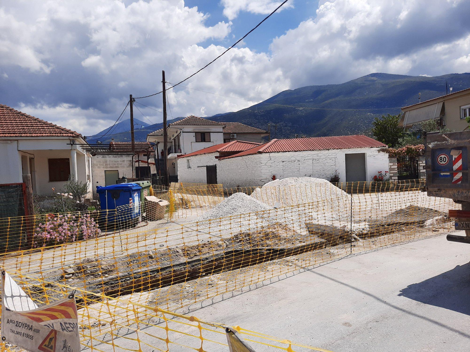 Άρχισε η κατασκευή του δικτύου διανομής αερίου στο Συκούριο του δήμου Τεμπών