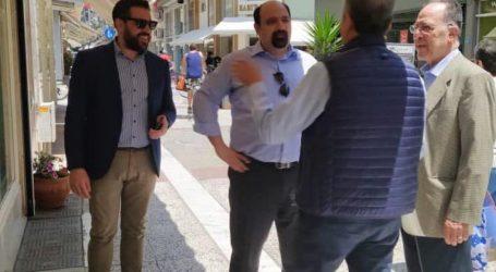 Στην εμπορική αγορά του Βόλου ο Χρήστος Τριαντόπουλος