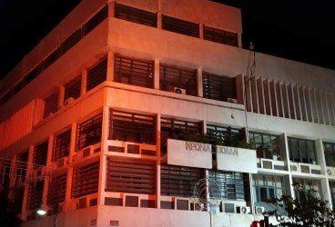 Φωταγώγηση του Δημαρχείου της Λάρισας για την Παγκόσμια Ημέρα Πολλαπλής Σκλήρυνσης