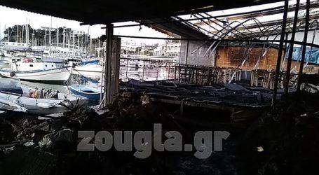 Ολοσχερής καταστροφή ψαροταβέρνας από πυρκαγιά στο Μικρολίμανο