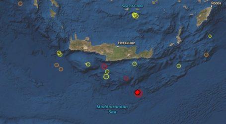Ισχυρός σεισμός μεγέθους 6 Ρίχτερ νότια της Κρήτης