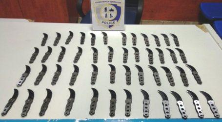 Σύλληψη 24χρονου αλλοδαπού ο οποίος είχε στην κατοχή του… 48 πτυσσόμενα μαχαίρια