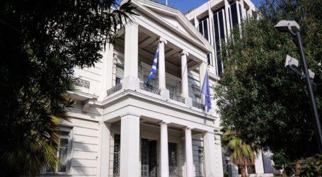 Το ΥΠΕΞ καταδικάζει την παρενόχληση του ελικοπτέρου του υπουργού Εθνικής Άμυνας
