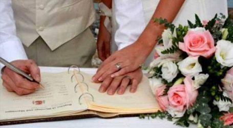 Περιοριστικά μέτρα στους πολιτικούς γάμους και τον Μάιο