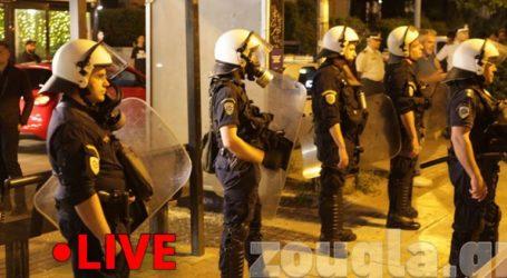 Ισχυρές αστυνομικές δυνάμεις στην πλατεία Αγίου Ιωάννου στην Αγία Παρασκευή