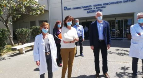 Επίσκεψη Παπανδρέου στο Πανεπιστημιακό Νοσοκομείο της Πάτρας