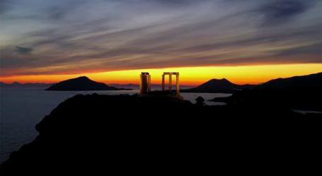 Ο υπέροχος Ναός του Ποσειδώνα από ψηλά