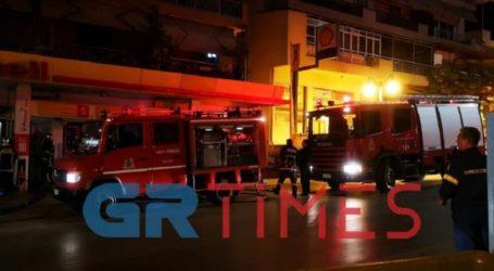 Πυρκαγιά σε βενζινάδικο στη Θεσσαλονίκη