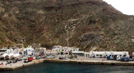 Ελαφρά πρόσκρουση πλοίου στο λιμάνι της Σαντορίνης
