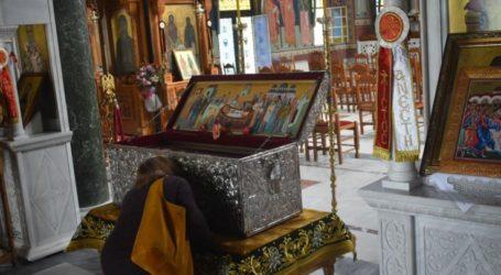 Ανοιχτός για τους πιστούς όλη μέρα σήμερα στη Λάρισα ο Άγιος Αχίλλιος – Την Κυριακή η θεία λειτουργία