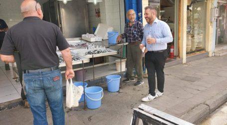 Περιοδεία Μεϊκόπουλου στην αγορά της Νέας Ιωνίας – Δείτε εικόνες
