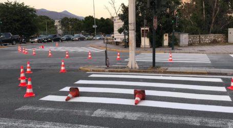 Βόλος: Εργασίες διαγράμμισης στην οδό Αθηνών – Δείτε εικόνες