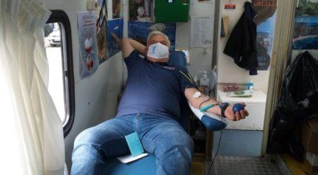Μεγάλη συμμετοχή στην εθελοντική αιμοδοσία της Νίκης Βόλου [εικόνες]
