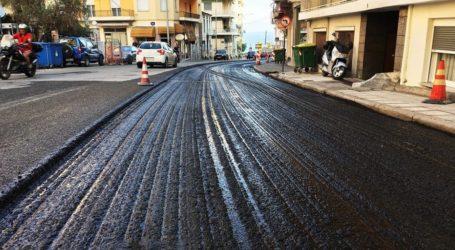 Βόλος: Ασφαλτοστρώνονται οι δρόμοι της πόλης – 35 χιλιόμετρα νέου οδοστρώματος