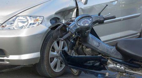 Τραυματισμός 37χρονου από τροχαίο με μηχανάκι στη Λάρισα
