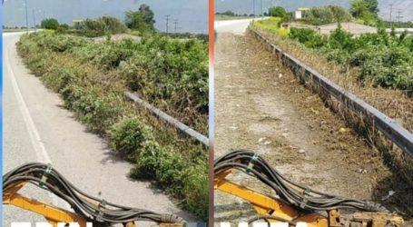 Καθάρισε περισσότερα από 70 χλμ. ευθύνης της η Περιφέρεια Θεσσαλίας