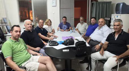 Με την Ένωση των Λαϊκών Αγορών Μαγνησίας συναντήθηκε η διοίκηση της  ΟΕΒΕΜ