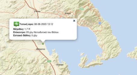 Ασθενής επιφανειακός σεισμός στον Αλμυρό [χάρτης]