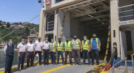 Σε πλήρη υγειονομική ασφάλεια o «ΠΡΩΤΕΥΣ» της ΑΝΕΣ ferries στις Σποράδες