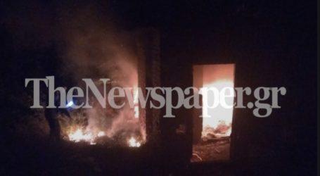 Βόλος: Φωτιά σε εγκαταλελειμμένο κτίριο