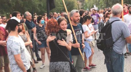 Βόλος: Ο Αλκίνοος Ιωαννίδης στην κεφαλή της πορείας κατά της καύσης RDF