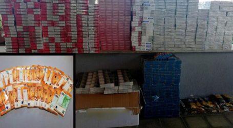 Με χειροπέδες στα Τρίκαλα για χιλιάδες αφορολόγητα πακέτα τσιγάρων – Προανάκριση από την Υποδιεύθυνση Ασφάλειας Λάρισας (φωτο)