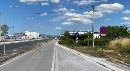 Λάρισα: Διαγράμμιση «παγίδα» σε παράδρομο της οδού Βόλου (φωτο)