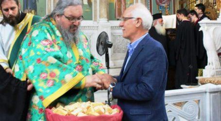Ευχές από το Δήμαρχο Λαρισαίων στον Μητροπολίτη Λαρίσης Ιερώνυμο για τα ονομαστήριά του